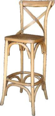 Americano Cross Back Bar Stool