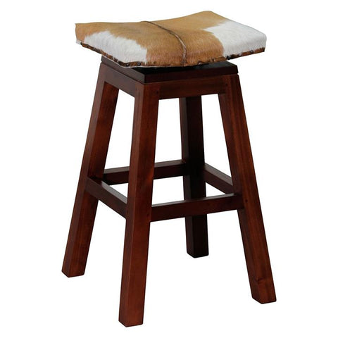 Aztec Goat Skin Bar Stool