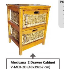 Mexicana 2 Draw Cabinet