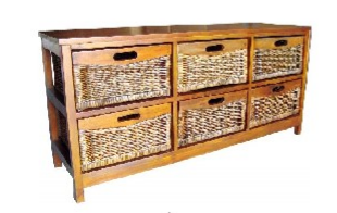 Mexicana 6 Draw Wide Cabinet