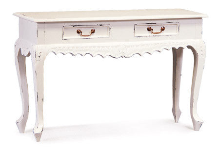 Queen Ann 2 Drawer Carved Sofa Table - ST 002 CV