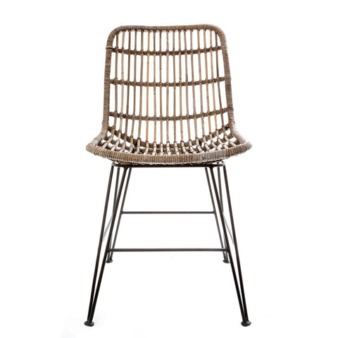 The Isle Rattan and Iron Dining Chair (Set of 2)