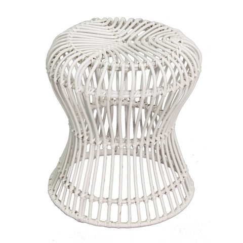 The Isle Rattan Hourglass Stool (Set of 2)