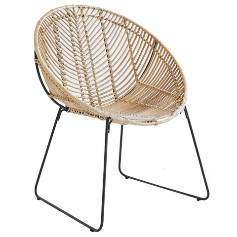 Rattan and Iron Leisure Chair