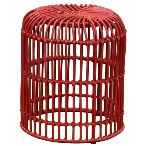 The Isle Rattan Straight Cage Stool (Set of 2)