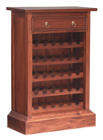 Elegant Wine Rack Storage with 1 Drawer
