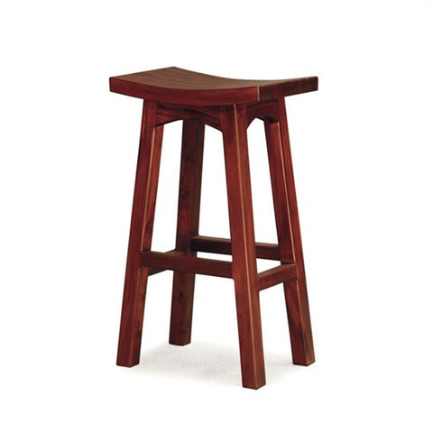 Saddle Seat Mahogany Bar Stool Medium