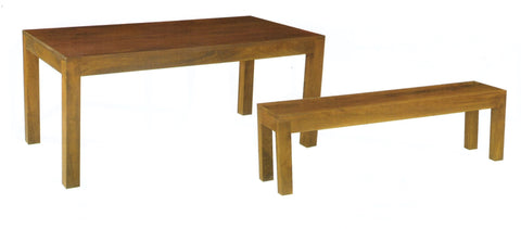 Block Dining Table and Bench
