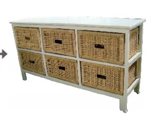 Bondi 6 Draw Wide Cabinet