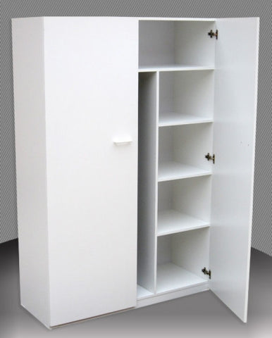 Broom & Linen Melamine Cupboard