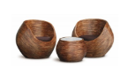 Rattan Round Tub Chair and Coffee Table Set