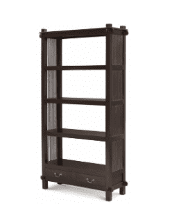 Tasmania Bookcase - 2 Drawer Open Bookcase