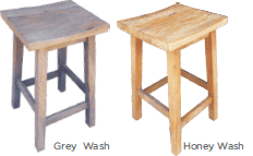 Annecy Kitchen Stool - Wash