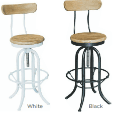 Alessia Kitchen Stool - with Back