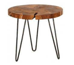 Root Teak Round Side Table