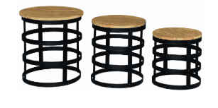 Nut Lamp Table Set of 3