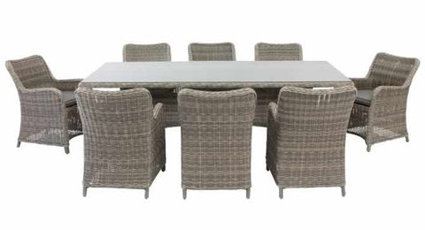 Delaware Outdoor Dining 9 Piece Setting