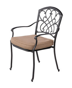 Montrose Outdoor Dining Chair Caste Aluminium
