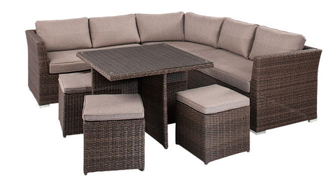 Tallahassee Deluxe Entertainment Modular Lounge and Casual Dining Setting