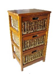 Mexicana 3 Draw Cabinet