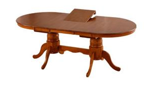 Mocha Oval Extension Table