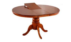 Mocha Round Extension Table
