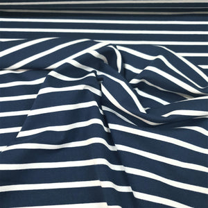 Ink & White Evisa Stripes - Cotton Spandex - Yarn Dyed