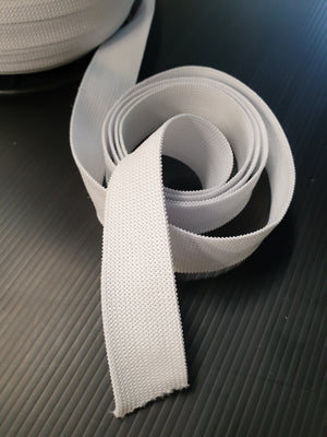 Elastic- 25mm - White