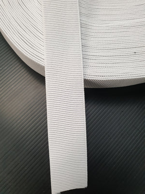 Elastic- NON roll 32mm - White