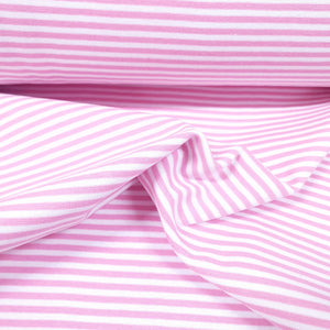 Pink/White stripe-Rib