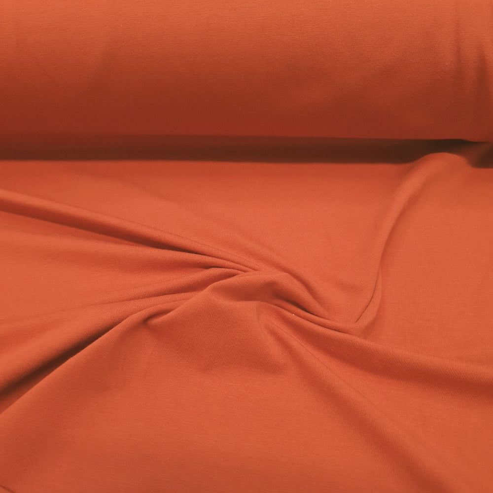 Burnt Orange-  Cotton Spandex
