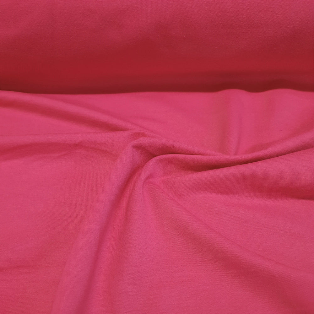Fuschia- Cotton French Terry