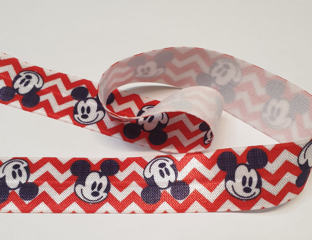 Lip/Foldover elastic- 25mm - Mickey