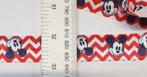 Load image into Gallery viewer, Lip/Foldover elastic- 25mm - Mickey