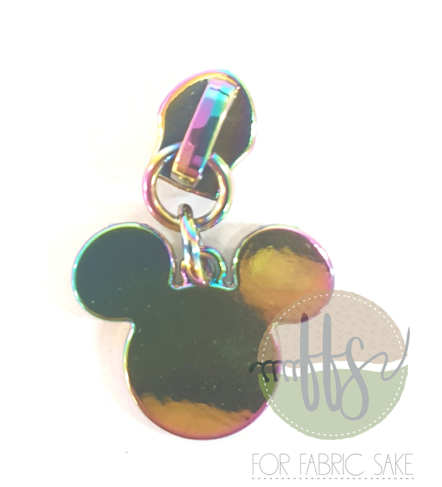 Mouse head Zipper pull
