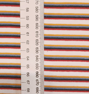 Load image into Gallery viewer, Multi stripe -Mustard/white/red -Rib