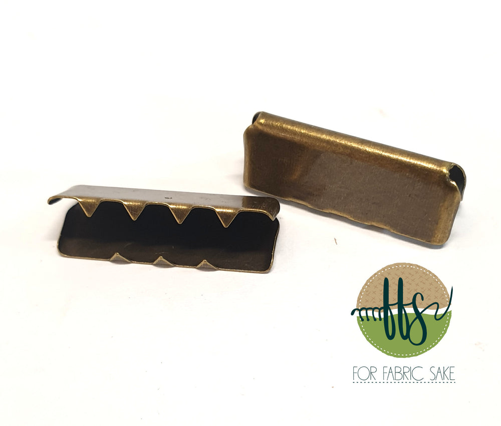 Metal End Clip - Brass - 2.5cm