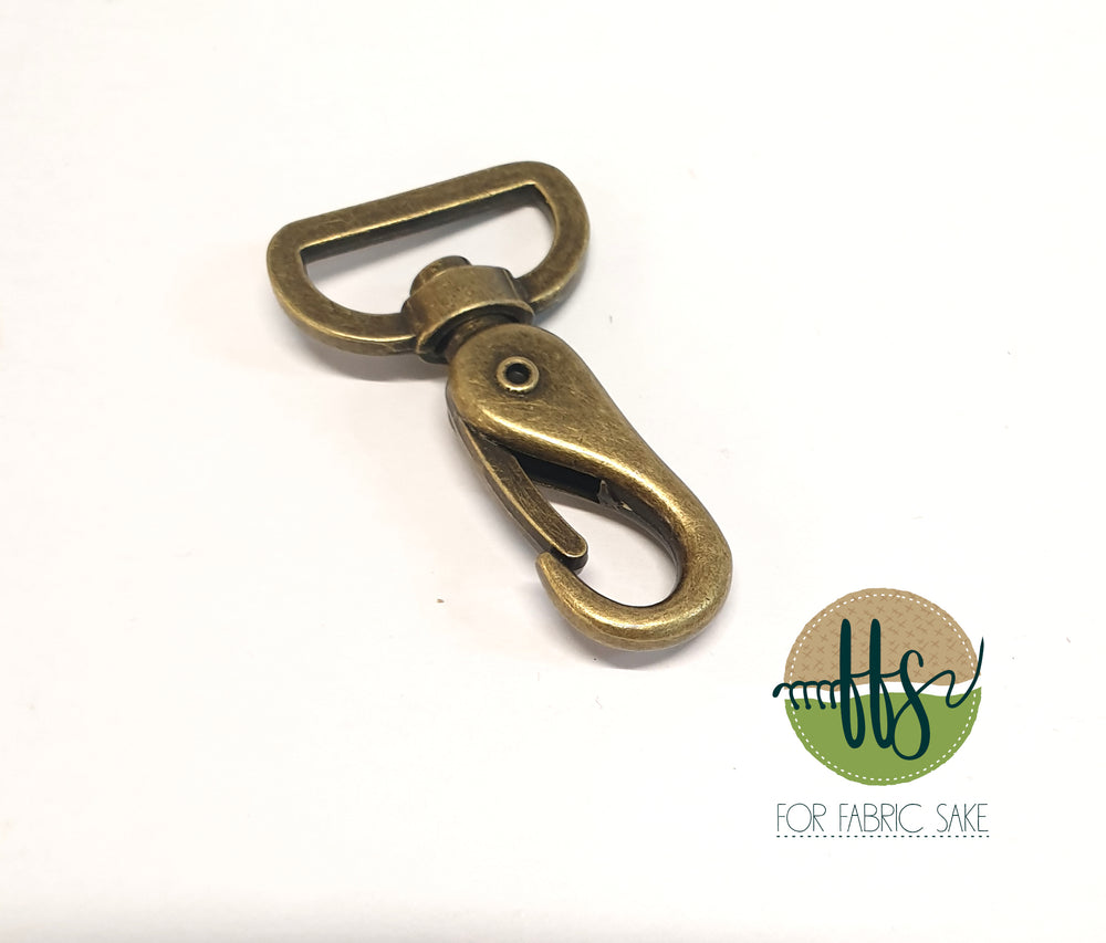 Metal Snap Hook - Brass - 2.5cm