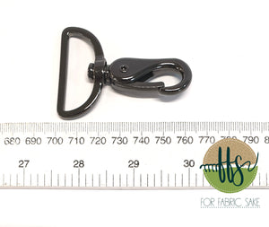 Metal Snap Hook - AnthriciteBrass - 4cm