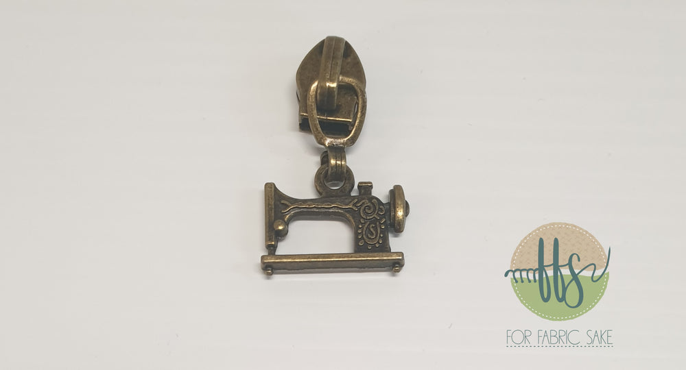 Sewing machine pull - brass