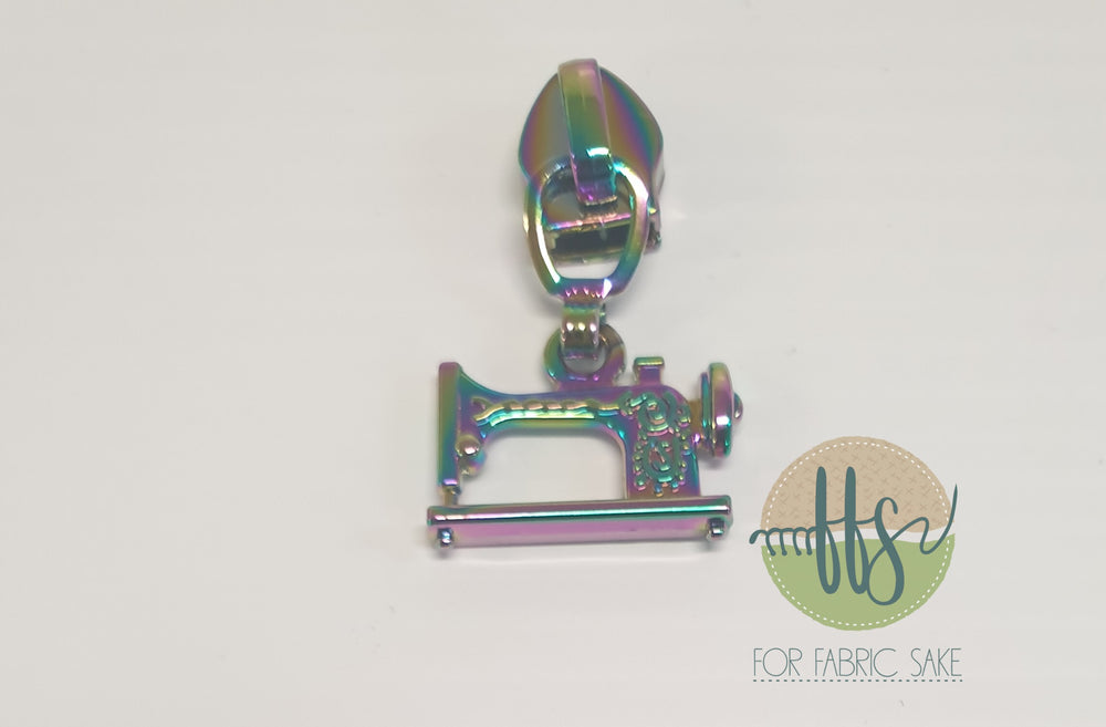 Sewing machine pull - rainbow