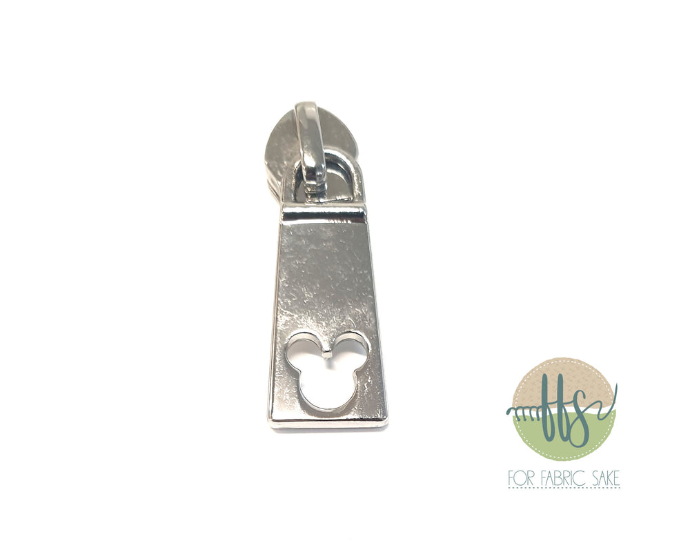 Mouse Head Rectangle pull - Silver