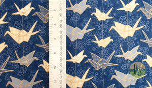 Oragami Birds- Double Brushed Poly