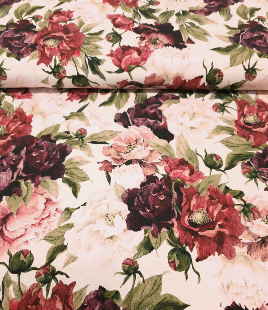 Autumn Floral- Cotton Spandex -220g
