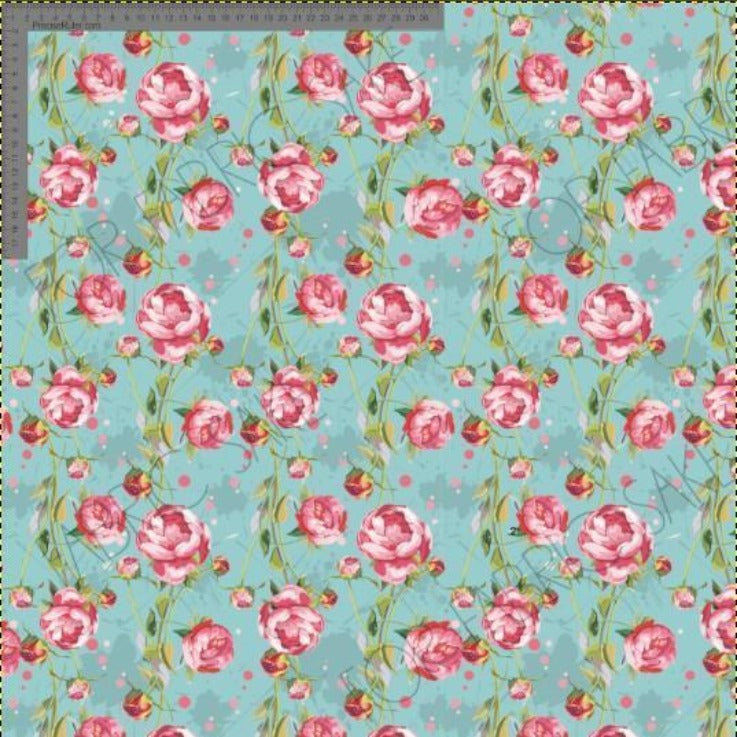 Load image into Gallery viewer, Peonies on Aqua- EXCLUSIVE- Custom Pre-order
