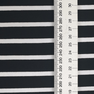 Load image into Gallery viewer, Black & White Evisa Stripes - Cotton Spandex - Yarn Dyed