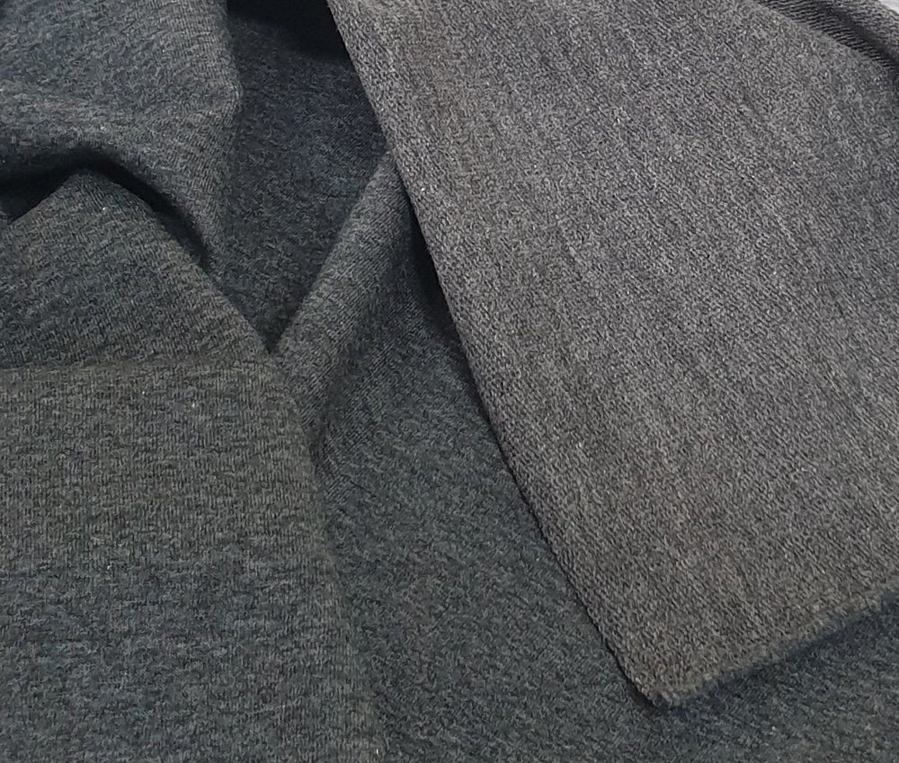 Charcoal- Cotton French Terry