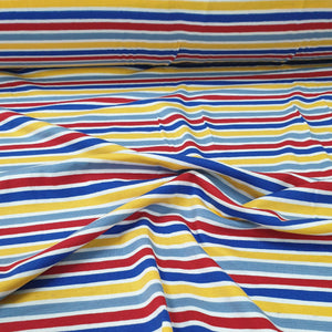 Load image into Gallery viewer, Multi stripe - Cotton Spandex - Yarn Dyed