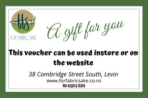 For Fabric Sake Gift Voucher