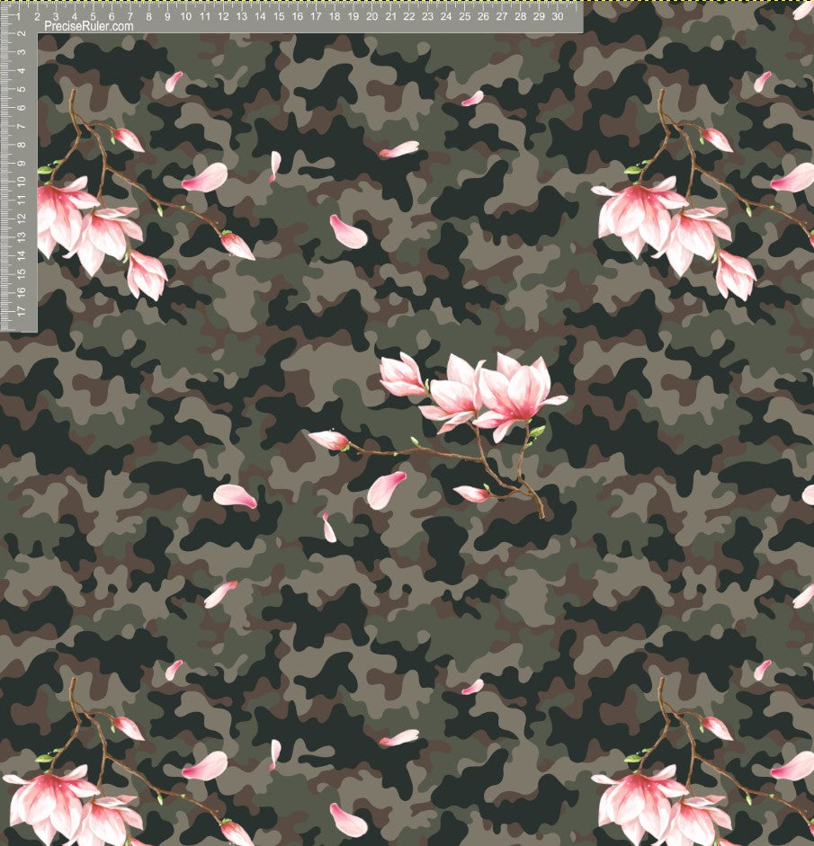 Camo and floral leaves - EXCLUSIVE- Custom Pre-order